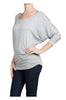 3/4 Dolman Sleeve Boat Neck Top - BodiLove | 30% Off First Order  - 29