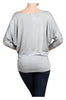 3/4 Dolman Sleeve Boat Neck Top - BodiLove | 30% Off First Order  - 30