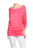 3/4 Dolman Sleeve Boat Neck Top - BodiLove | 30% Off First Order  - 35