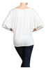 3/4 Dolman Sleeve Boat Neck Top - BodiLove | 30% Off First Order  - 42