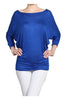 3/4 Dolman Sleeve Boat Neck Top - BodiLove | 30% Off First Order  - 43