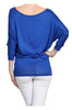 3/4 Dolman Sleeve Boat Neck Top - BodiLove | 30% Off First Order  - 44