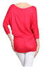 3/4 Dolman Sleeve Boat Neck Top - BodiLove | 30% Off First Order  - 46