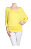 3/4 Dolman Sleeve Boat Neck Top - BodiLove | 30% Off First Order  - 47