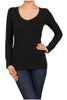 Basic Long Sleeve Scoop or V-Neck Top - BodiLove | 30% Off First Order  - 6
