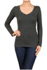 Basic Long Sleeve Scoop or V-Neck Top - BodiLove | 30% Off First Order  - 16