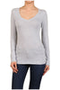 Basic Long Sleeve Scoop or V-Neck Top - BodiLove | 30% Off First Order  - 26