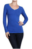 Basic Long Sleeve Scoop or V-Neck Top - BodiLove | 30% Off First Order  - 51
