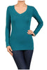 Basic Long Sleeve Scoop or V-Neck Top - BodiLove | 30% Off First Order  - 56