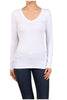 Basic Long Sleeve Scoop or V-Neck Top - BodiLove | 30% Off First Order  - 66