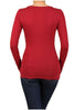 Basic Long Sleeve Scoop or V-Neck Top - BodiLove | 30% Off First Order  - 12
