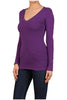 Basic Long Sleeve Scoop or V-Neck Top - BodiLove | 30% Off First Order  - 43