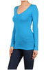 Basic Long Sleeve Scoop or V-Neck Top - BodiLove | 30% Off First Order  - 63