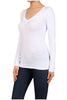 Basic Long Sleeve Scoop or V-Neck Top - BodiLove | 30% Off First Order  - 68