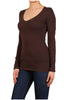 Basic Long Sleeve Scoop or V-Neck Top - BodiLove | 30% Off First Order  - 4