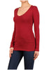 Basic Long Sleeve Scoop or V-Neck Top - BodiLove | 30% Off First Order  - 14