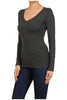 Basic Long Sleeve Scoop or V-Neck Top - BodiLove | 30% Off First Order  - 19