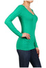 Basic Long Sleeve Scoop or V-Neck Top - BodiLove | 30% Off First Order  - 34