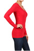 Basic Long Sleeve Scoop or V-Neck Top - BodiLove | 30% Off First Order  - 49
