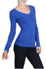 Basic Long Sleeve Scoop or V-Neck Top - BodiLove | 30% Off First Order  - 54