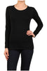 Basic Long Sleeve Scoop Neck Top - BodiLove | 30% Off First Order  - 1