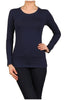 Basic Long Sleeve Scoop Neck Top - BodiLove | 30% Off First Order  - 26