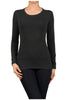 Basic Long Sleeve Scoop Neck Top - BodiLove | 30% Off First Order  - 11