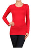 Basic Long Sleeve Scoop Neck Top - BodiLove | 30% Off First Order  - 41