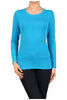 Basic Long Sleeve Scoop Neck Top - BodiLove | 30% Off First Order  - 56