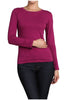 Basic Long Sleeve Scoop Neck Top - BodiLove | 30% Off First Order  - 66
