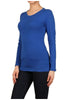 Basic Long Sleeve Scoop Neck Top - BodiLove | 30% Off First Order  - 48