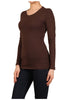 Basic Long Sleeve Scoop Neck Top - BodiLove | 30% Off First Order  - 8