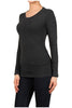 Basic Long Sleeve Scoop Neck Top - BodiLove | 30% Off First Order  - 13