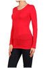 Basic Long Sleeve Scoop Neck Top - BodiLove | 30% Off First Order  - 43