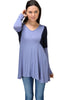 Long Sleeve Colorblocked Tunic Top - BodiLove | 30% Off First Order  - 10