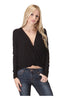 Long Sleeve Draped Surplice V-Neck Knit Top - BodiLove | 30% Off First Order  - 1