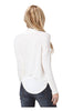 Long Sleeve Draped Surplice V-Neck Knit Top - BodiLove | 30% Off First Order  - 2