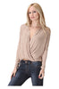 Long Sleeve Draped Surplice V-Neck Knit Top - BodiLove | 30% Off First Order  - 3