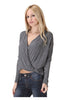 Long Sleeve Draped Surplice V-Neck Knit Top - BodiLove | 30% Off First Order  - 5