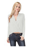 Long Sleeve Draped Surplice V-Neck Knit Top - BodiLove | 30% Off First Order  - 8