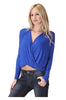 Long Sleeve Draped Surplice V-Neck Knit Top - BodiLove | 30% Off First Order  - 10