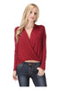 Long Sleeve Draped Surplice V-Neck Knit Top - BodiLove | 30% Off First Order  - 12
