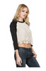 3/4 Dolman Sleeve Crochet Lace Front Top - BodiLove | 30% Off First Order  - 2
