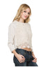 3/4 Dolman Sleeve Crochet Lace Front Top - BodiLove | 30% Off First Order  - 7