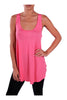 Sleeveless Draped Hi-Low Tank Top | 30% Off First Order | Coral1
