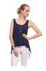 Sleeveless Draped Hi-Low Tank Top - BodiLove | 30% Off First Order  - 5