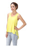 Sleeveless Draped Hi-Low Tank Top - BodiLove | 30% Off First Order  - 12