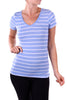Casual Short Sleeve V-Neck T-Shirt - BodiLove | 30% Off First Order  - 20