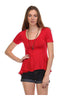 Short Sleeve Peplum Top W/ Chiffon Inserts - BodiLove | 30% Off First Order  - 7