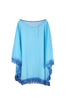 Sheer Lightweight Poncho Beach Coverup | 30% Off First Order | BlkTan-Fringe